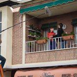 Elena Rivera y Ricardo Gómez en el rodaje de la 19ª temporada de 'Cuéntame cómo pasó'