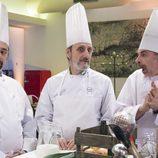 Antonio Recio, Enrique Pastor y Coque, chef de un restaurante en el quinto episodio de la décima temporada de 'La que se avecina'