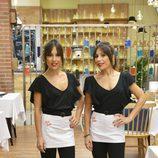 Cristina y Marisa Zapata posan en el nuevo restaurante de 'First Dates'