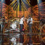 Cepeda canta con Morat en la Gala 2 de 'OT 2017'