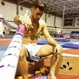 Albert Álvarez ('MYHYV'), semidesnudo antes de practicar deporte
