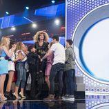 Mimi, apoyada por sus compañeros en la Gala 2 de 'OT 2017'