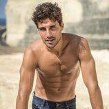 Jaime Astrain, 'El chiringuito de Jugones', muestra sus músculos semidensudo