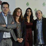 Mario López, Carmen Ferreiro, Ana Pastor y Javier Pons en la presentación de '¿Dónde estabas entonces?