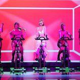 Ana Mena imita a Ariana Grande como invitada en la Gala 8 de 'Tu Cara Me Suena'