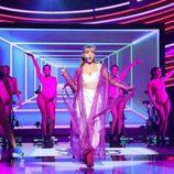 Ana Mena, artista invitada de  'Tu cara me suena', imita a Ariana Grande