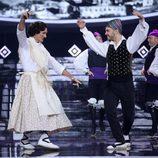 Fran Dieli bailando una jota como Imperio Argentina en 'Tu cara me suena'