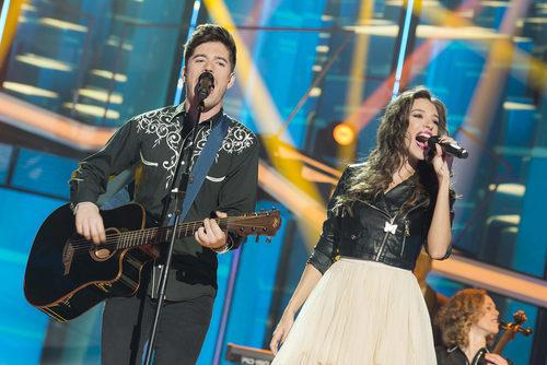 Roi y Ana Guerra actúan juntos en la Gala 4 de 'OT 2017'