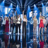 Concursantes tras su actuación inicial de la Gala 4 de 'OT 2017'