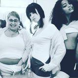 Najwa Nimri, Berta Vázquez y María Isabel Díaz durante el primer día de rodaje de la tercera temporada de 'Vis a vis'