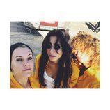 Maggie Civantos, Alba Flores y Berta Vázquez durante el primer día de rodaje de la tercera temporada de 'Vis a vis'