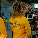 Berta Vázquez y Alba Flores en el rodaje de la tercera temporada de 'Vis a vis'