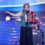 Lucía Jiménez es Julieta Venegas en la Gala 9 de 'Tu cara me suena'