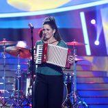 Lucía Jiménez imita a la mexicana Julieta Venegas en 'Tu cara me suena'