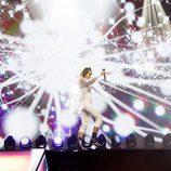 Mina Blazev en Eurovisión Junior 2017 como representante de F.Y.R. Macedonia