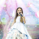Ana Kodra en Eurovisión Junior 2017 como representante de Polonia