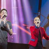 Miriam y Cepeda en la gala 5 de 'OT 2017'