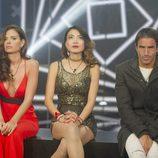 Lorena, Yangyang y Hugo esperan en la sala de expulsión en la gala 12 de 'GH Revolution'
