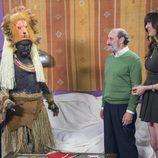 Antonio Recio disfrazado de indígena africano en el décimo capítulo de la décima temporada de 'La que se avecina'