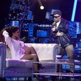 Lucía Gil se pone en la piel de Nicky Jam en la gala 10 de 'Tu cara me suena 6'