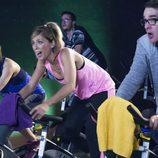Raquel, Maite y Bruno haciendo deporte en el undécimo episodio de la décima temporada de 'La que se avecina'