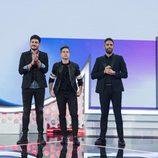 Los nominados de la Gala 7 junto a Roberto Leal en 'OT 2017'