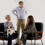 Alberto, Paula y Marta posan con Max en 'Sabuesos'