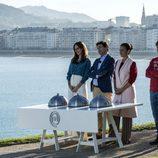 El jurado y la presentadora de 'MasterChef Junior 5' en San Sebastián