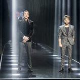 Hugo y Rubén, finalistas en la gala final de 'GH Revolution'
