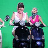 Diana Navarro se sube a la moto como Concha Velasco en la gala 11 de 'Tu cara me suena'