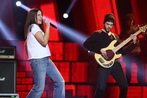 Lucía Jiménez es Sharleen Spiteri, vocalista de Texas, en la gala 11 de 'Tu cara me suena'