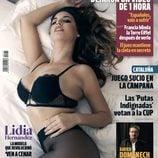 Lidia Hernández, concursante en 'Ven a cenar conmigo', en la portada de Interviú