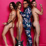 Javián, Geno y Àlex (Fórmula Abierta) posan desnudos junto a Torito para Primera Línea