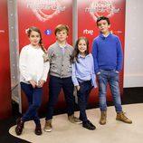Cuatro jóvenes aspirantes en la presentación de 'MasterChef Junior 5'