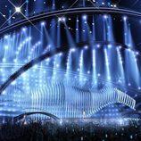Vista lateral del escenario de Eurovisión 2018