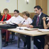 Amador y Maite en el juicio con sus hijos en el último capítulo de la décima temporada de 'La que se avecina'