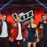 Pedro, Samuel, Alba y Gabriele, finalistas de 'La Voz 5'