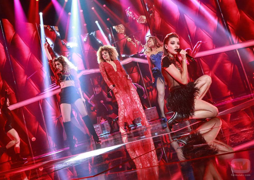 """Mimi, Ana Guerra, Gisela y Vero cantan """"Lady Marmalade"""" en la gala especial de Navidad de 'OT 2017'"""