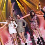 """Natalia, Geno, Thalía y Marina cantan """"Eternal Flame"""" en la gala especial de Navidad de 'OT 2017'"""