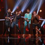 """Ricky, Javián, Juan Antonio y Álex Casademunt cantan """"Corazón espinado"""" en la gala especial de Navidad de 'OT 2017'"""