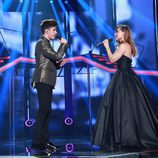 "Roi y Vero interpretan ""I Finally Found Someone"" en la gala especial de Navidad de 'OT 2017'"