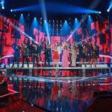 """Los concursantes de 'OT 1' y 'OT 2017' cantan juntos """"Mi música es tu voz"""" en la gala de Navidad"""