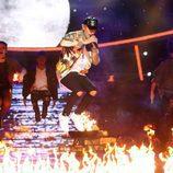 Fran Dieli imitando a Justin Bieber en la duodécima gala de 'Tu cara me suena'