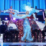 La Terremoto de Alcorcón imita a Gracita Morales vestida de vedette en la duodécima gala de 'Tu cara me suena'