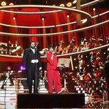Lucía Jiménez y Edu Soto son Liza Mnielly y Pavarotti en la duodécima gala de 'Tu cara me suena'