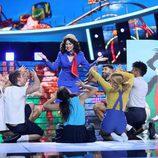 Pepa Aniorte imitando a Elsa Baeza en la duodécima gala de 'Tu cara me suena'