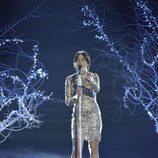 Alba Gil, ganadora del concurso, cantando en la final de 'La Voz 5'