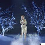 Alba Gil cantando en solitario en la final de 'La Voz 5'