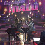 Malú y Samuel cantando en la final de 'La Voz 5'