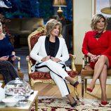 Carmen Borrego, María Teresa Campos y Terelu en la rueda de prensa de presentación de la nueva temporada de 'Las Campos'